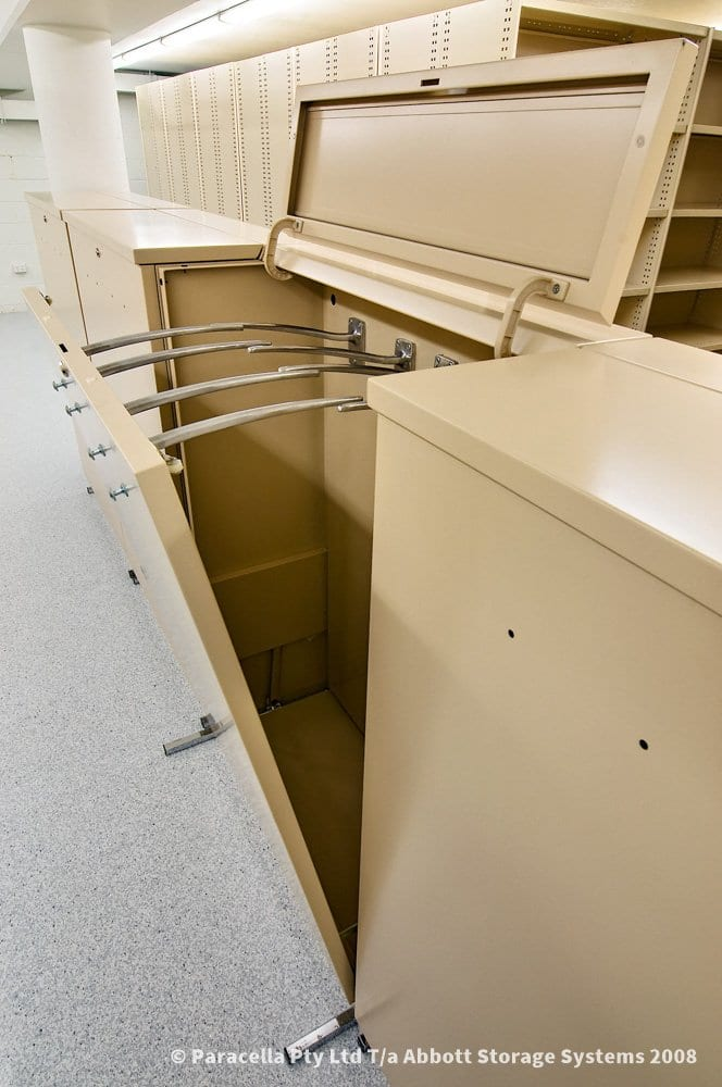 Vertical Plan Cabinet Open