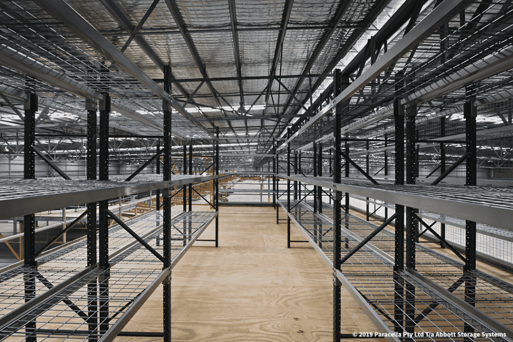 TNT - Warehouse Storage Solution - Open Span Shelving with Mesh Decks