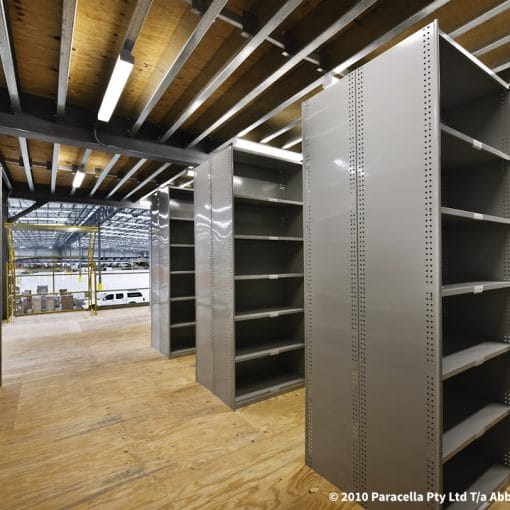 Rolled Upright Shelving Layout - Lean Warehouse Storage