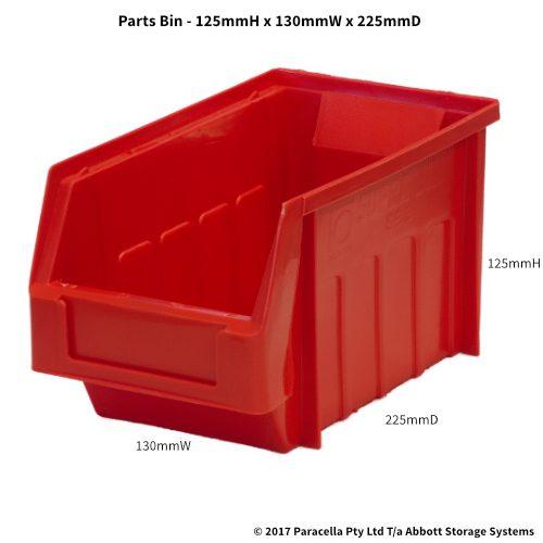 PL30120 Parts Bin Metro 130w x 225d x 125h Red