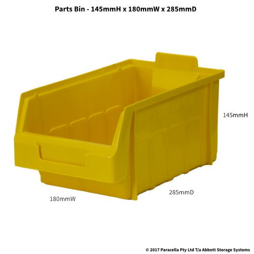 PL30180 Parts Bin Metro 180w x 285d x 145h Yellow