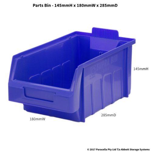 PL30160 Parts Bin Metro 180w x 285d x 145h Blue