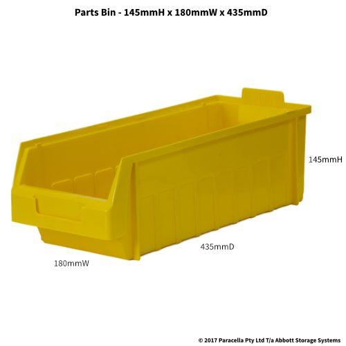 PL30280 Parts Bin Metro 180w x 435d x 145h Yellow