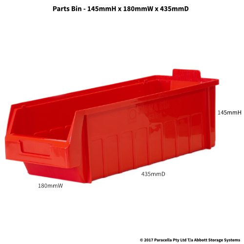 PL30270 Parts Bin Metro 180w x 435d x 145h Red
