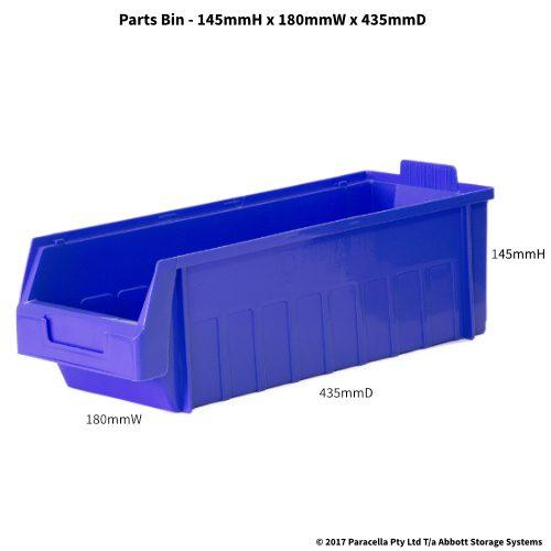 PL30260 Parts Bin Metro 180w x 435d x 145h Blue