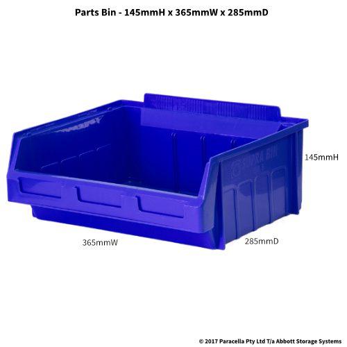 PL30210 Parts Bin Metro 365w x 285d x 145h Blue