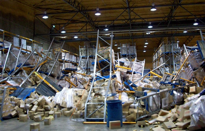 Inspection of Pallet Racking Collapse