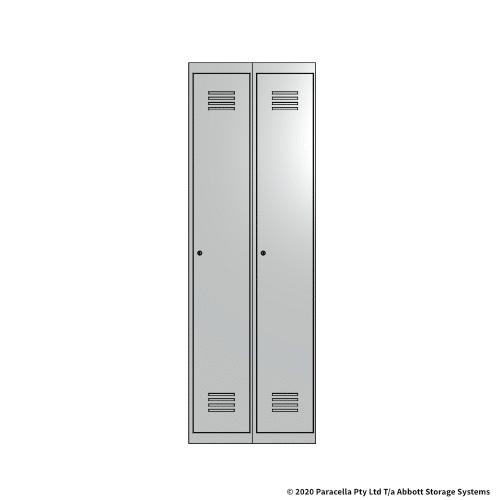 White 1 Door Locker 1800H x 300W x 450D Bank of 2