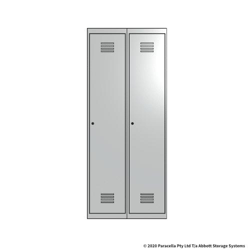 White 1 Door Locker 1800H x 375W x 450D Bank of 2