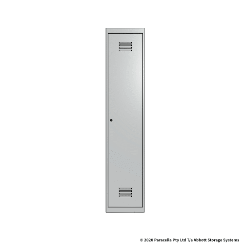 White 1 Door Locker 1800H x 375W x 450D Single