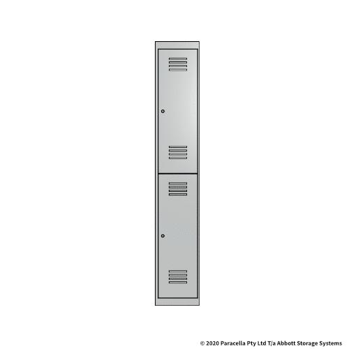 White 2 Door Locker 1800H x 300W x 450D Single
