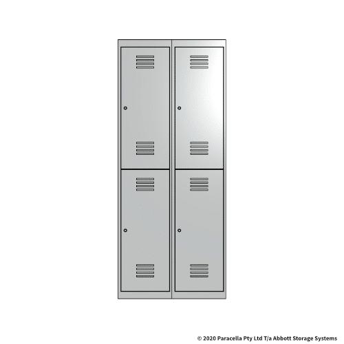 White 2 Door Locker 1800H x 375W x 450D Bank of 2
