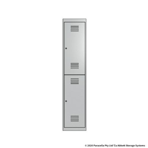 White 2 Door Locker 1800H x 375W x 450D Single