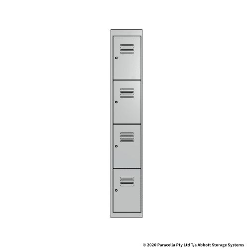 White 4 Door Locker 1800H x 300W x 450D Single