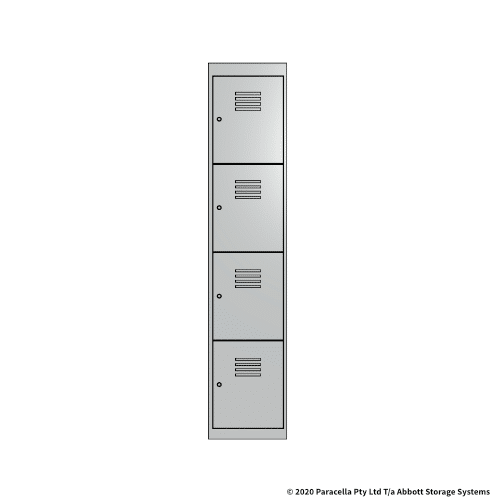 White 4 Door Locker 1800H x 375W x 450D Single