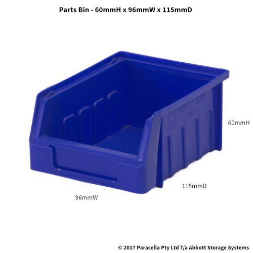 PL30010 Parts Bin Metro 96w x 115d x 60h Blue