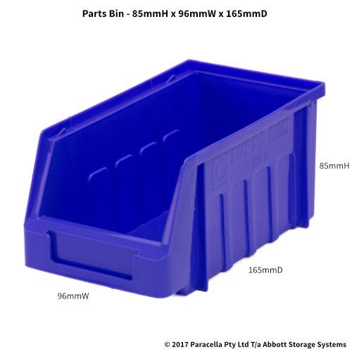 PL30060 Parts Bin Metro 96w x 165d x 85h Blue