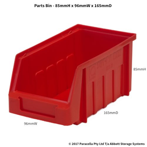 PL30070 Parts Bin Metro 96w x 165d x 85h Red