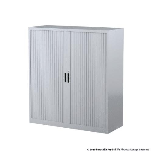 Tambour Door Cabinet 1340H x 1200W x 500DGrey CB2639SG