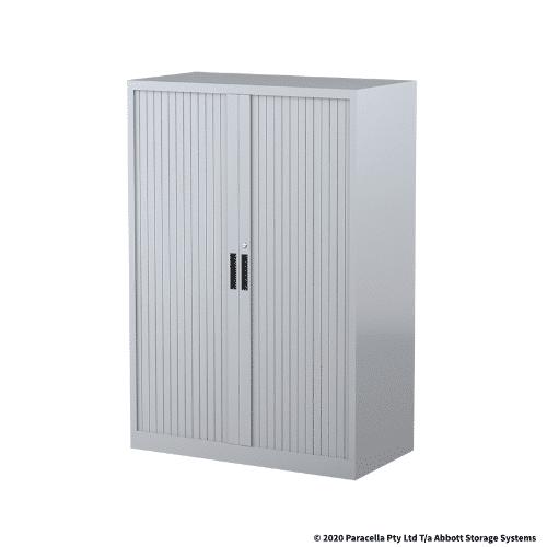 CB2633SG Tambour Door Cabinet 1340H x 900W x 500DGrey