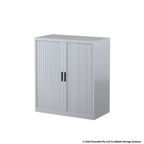 CB2631SG Tambour Door Cabinet 1020H x 900W x 500DGrey