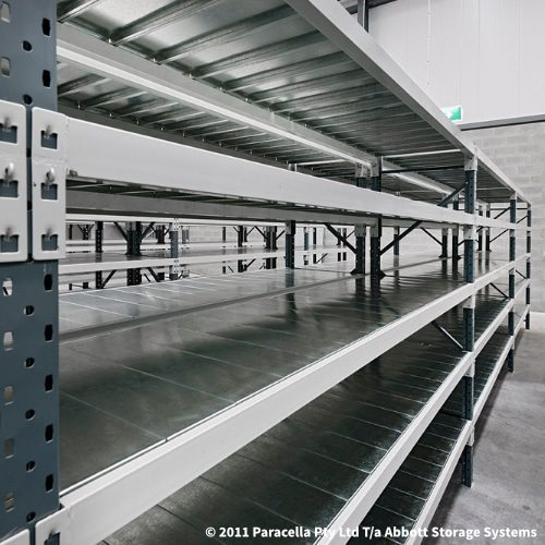 Long Span Shelving - Steel Panel Shelves