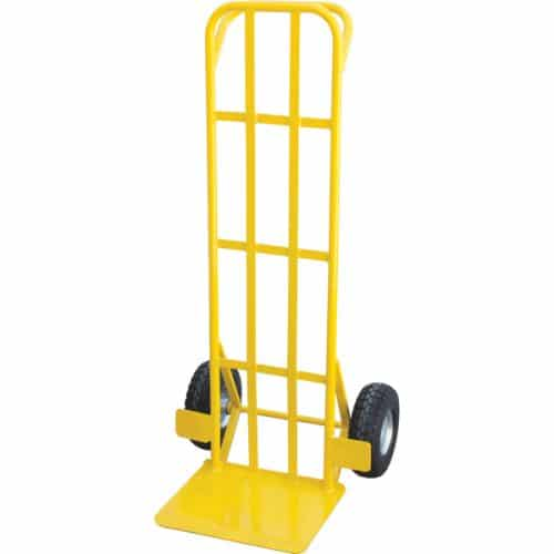 ABCTR123 - Flat Back Carton Trolley 300kg Pneumatic Wheels