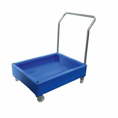 ABMXP4002 - Poly bunded trolley for 4 x 25 cans
