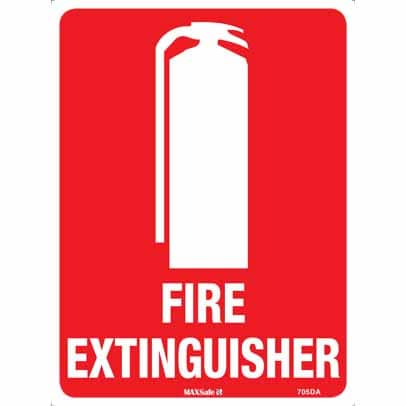 WS17053 - Safety Sign 450 x 300mm - Metal - Fire Extinguisher