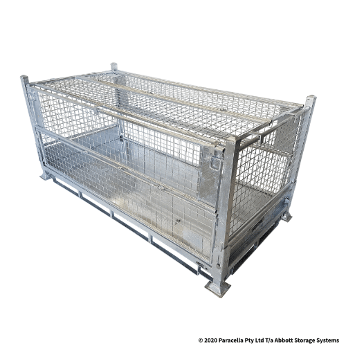 PS73700 Double Width Galvanised Stillage 1000H - Including Lid