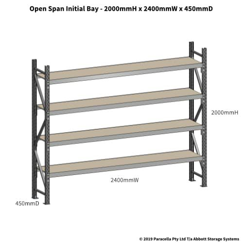Open Span OS42650 2000H 2400W 450D Particle Board Initial