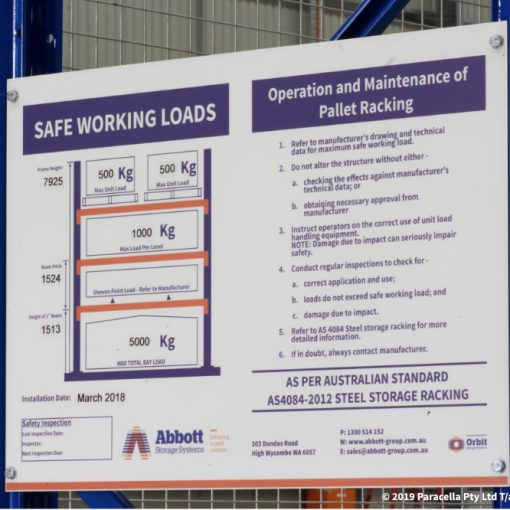 Safe Working Load (SWL) Limit Signs