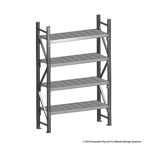 2000H 1200W 450D Steel Shelf Panels Initial