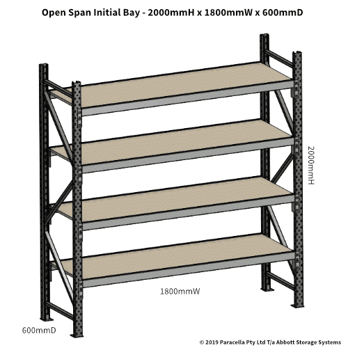 Open Span OS42810 2000H 1800W 600D Particle Board Initial