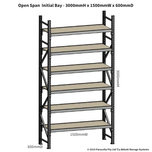 Open Span OS42911 3000H 1500W 600D Particle Board Initial