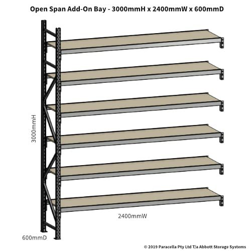 Open Span OS42960 3000H 2400W 600D Particle Board Add-On