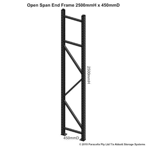 Long Span End Frame 2500H x 450D