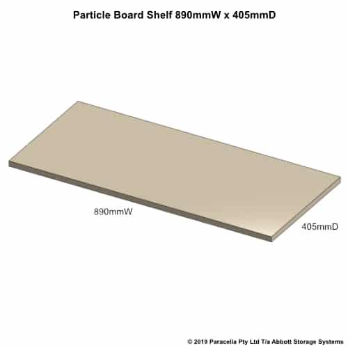 890W x 405D Particle Board Shelf