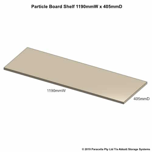 1190W x 405D Particle Board Shelf