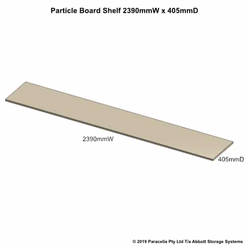 2390W x 405D Particle Board Shelf