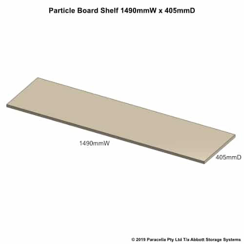 1490W x 405D Particle Board Shelf