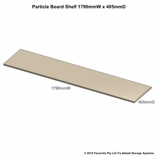 1790W x 405D Particle Board Shelf