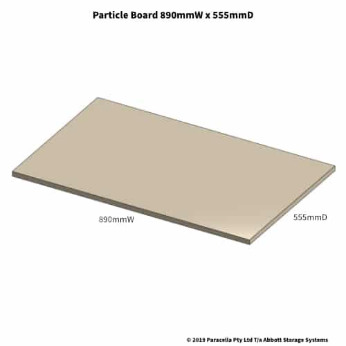 890W x 555D Particle Board Shelf