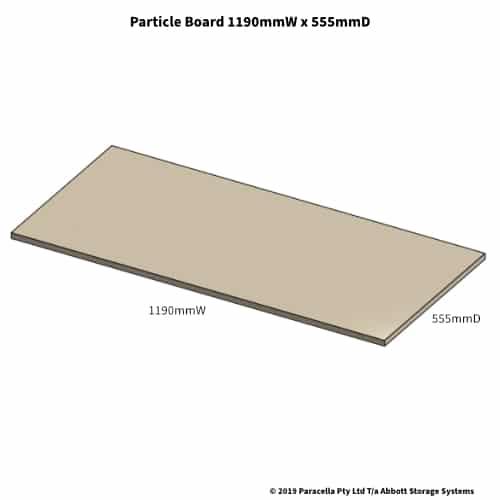 1190W x 555D Particle Board Shelf