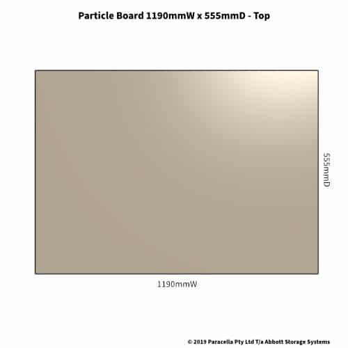 Particle Board Shelf 555D x 1190W - Top
