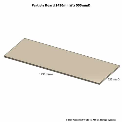 Particle Board Shelf 555D x 1490W