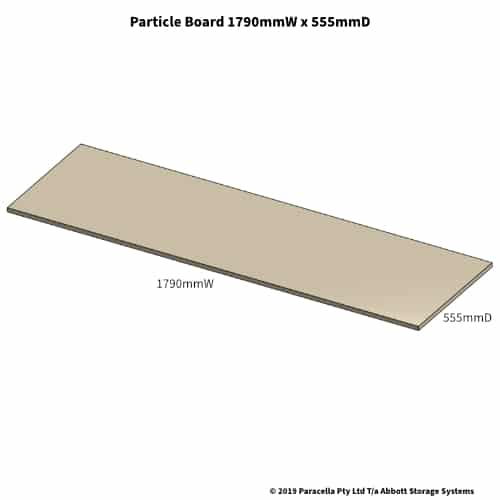 1790W x 555D Particle Board Shelf