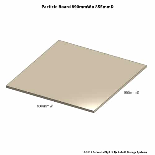 890W x 855D Particle Board Shelf
