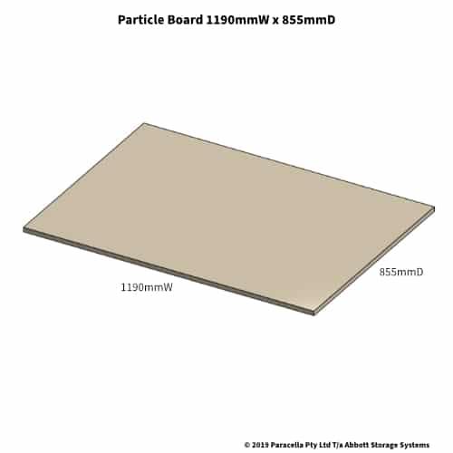 1190W x 855D Particle Board Shelf