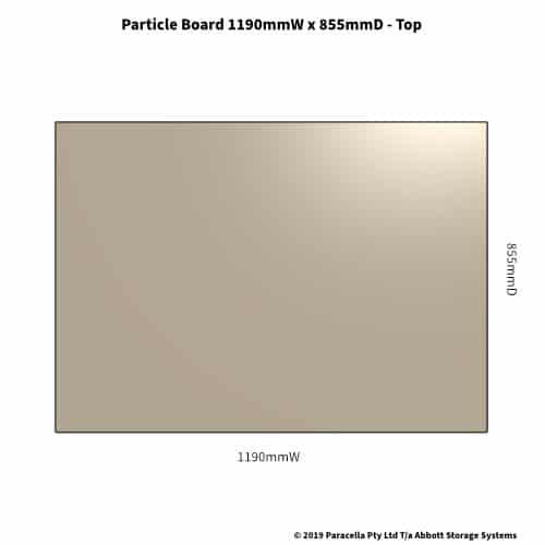 Particle Board Shelf 855D x 1190W - Top